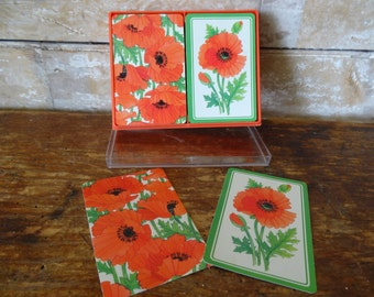 Vintage Poppy Playing Cards 2 Sets