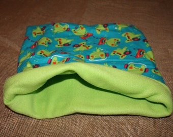Large Froggy pouch for small pets. guinea pigs. rats. rodents.