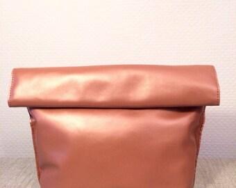Shinny Soft Leather Clutch