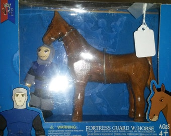 Wooden Horse and Knight Playset