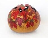 Maple Autumn Morning Gourd Bowl (1564)
