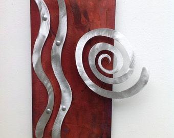 Abstract Metal Wall Art Sculpture by Artist Holly Lentz