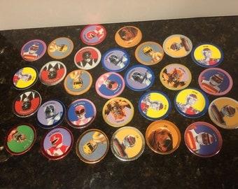 29 Vintage Power Ranger Pogs