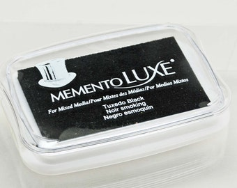 Memento Luxe Stamp Pad -- Tuxedo Black -- Mixed Media Full Size Stamp Pad