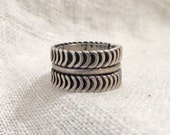Wide Band Ring Mexico Sterling SZ 7.5