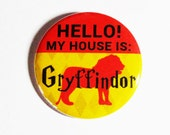 Harry Potter Pinback Buttons Geeky Accessories Gryffindor Hogwarts Crest Fandom Apparel