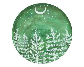 Landscape art, Fine Art Print-Winter Pine Forest