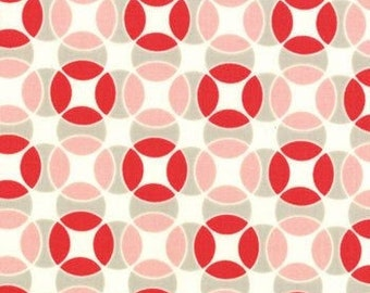 Vintage Modern Bonnie & Camille circles gray red moda fabric FQ or more