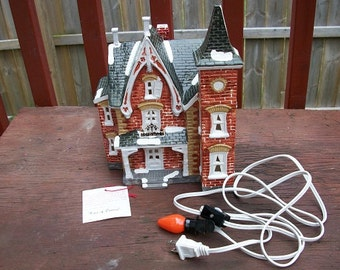 Vintage The Original Snow Village Dept. 56 Turn the Time of Century Dated 1985 50040