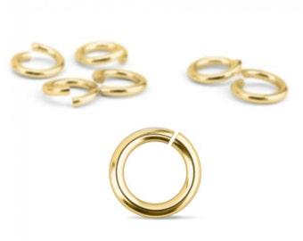 Jump Rings, Gold Plated, 20 Gauge, 4mm, 200 Pack-Impressart Brand-Metal Supply Chick-1AJR084G