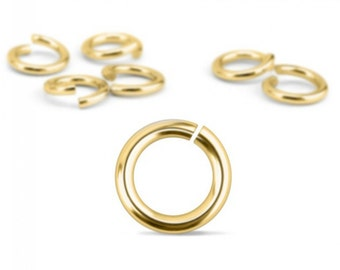 Jump Rings, Gold Plated, 20 Gauge, 5mm, 100 Pack-Impressart Brand-Metal Supply Chick-1AJR085G