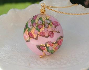 Venetian Murano Millerose Glass Necklace
