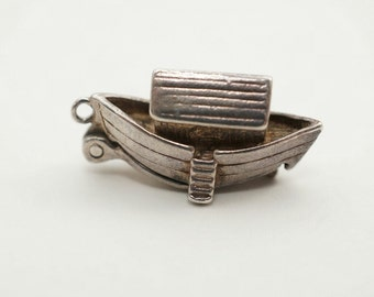 Vintage Sterling NUVO Noah's Ark Charm Opens to Noah and Two Animals
