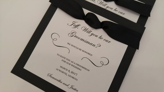 Honor Or Honour On Wedding Invitations: Groomsman Invitation Will You Be My Best Man Man Of By