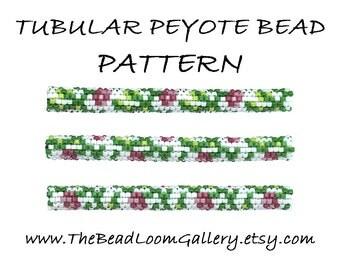 Tubular Peyote Bead PATTERN - Vol. 3 - Rose Branch - PDF File PATTERN