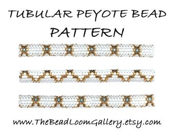 Tubular Peyote Bead PATTERN - Vol. 5 - Golden Lace 2 - PDF File PATTERN
