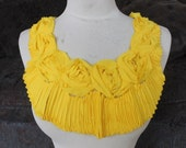 Yellow color     flower    applique   1 pieces listing
