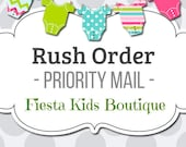 RUSH ORDER upgrade / ships within 3-4 business days / via priority mail USPS / Fiesta Kids Boutique