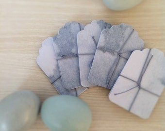 Prussian Blue Grey - Gift Tags - Vintage style gift tag - Classic style gift tag - Hang Tag - Scrap booking- Crafting - Set of 10