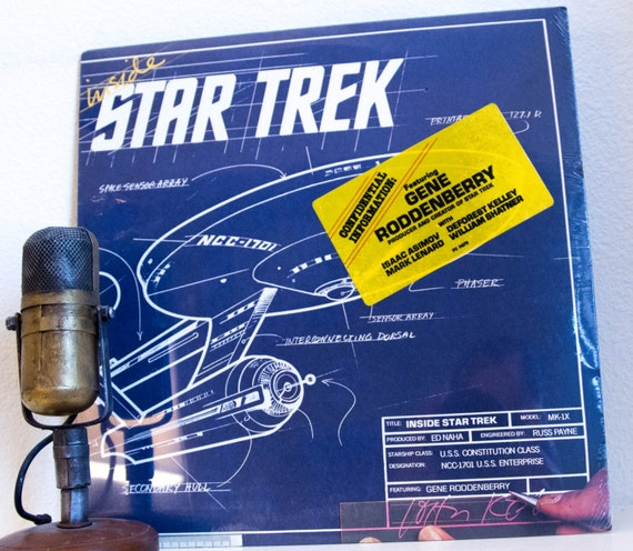 "Vintage Vinyl Album Record Spoken Word Lp 1960s Science Fiction Gene Roddenberry ""Inside Star Trek"" (RARE SEALED Original 1976 CBS)"