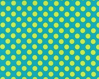 Michael Miller Fabric - Ta Dot in Lagoon, 1 Yard