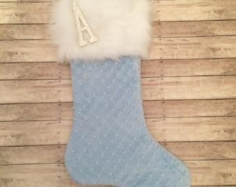 1st Christmas Stocking, Baby Boy Christmas Stocking, Personalized Baby Stocking, Personalized Christmas Gift, Glitter Stocking