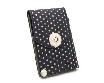 Polka dot wallet, womens black wallet, small wallet - the JACK