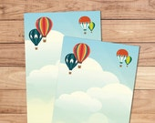 Montgolfières - A5 Stationery - 12, 24 or 48 sheets