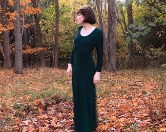 Emerald Scoop Dress