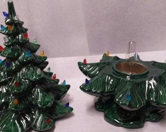 Ceramic Christmas Tree Vintage Style