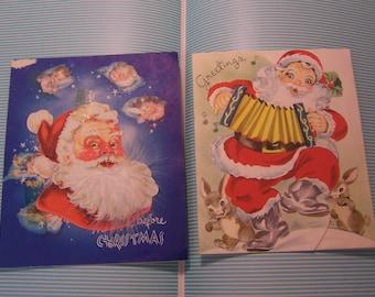 charming jolly santa cards