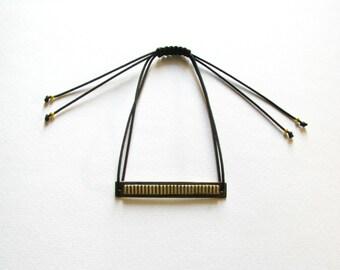 Oxidized Brass Bracelet-Brass Bar Bracelet-Modern Bar Bracelet -Contemporary Bracelet-Oxidized Bracelet-Contemporary Jewellery