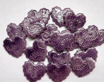 Ceramic mosaic tile(15)-Heart tiles -ceramic mosaic tiles - pinkhearts