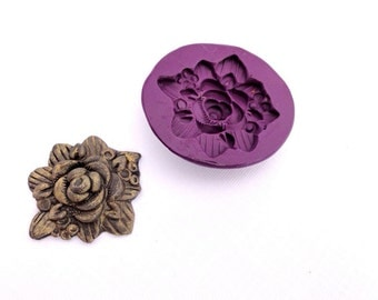 Floral bouquet silicone mold by Marie Segal