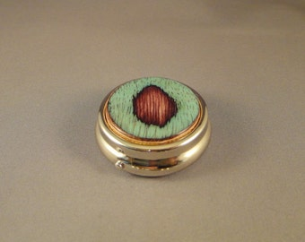 Medication Holder - Mini Pill Box - Purse - Laminated Wood