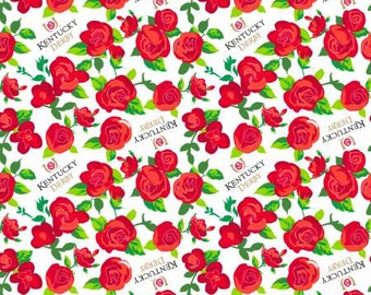 Springs Creative Kentucky Derby Collections Kentucky Derby Winner's Circle Roses Fabric - 1 Yard