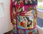 XL, Mini Rig, Bubbler, Pipe Bag, Wonder Woman, DC Comics, Padded Bag, Glass Pipe Protection, Pretty Pouches, Glass Pipe Bag, Padded Pipe Bag