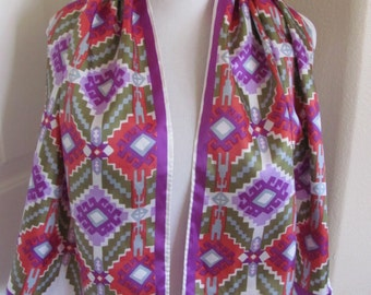 "Beautiful Colorful Soft Acetate Scarf  - 15"" x 44"" Long"