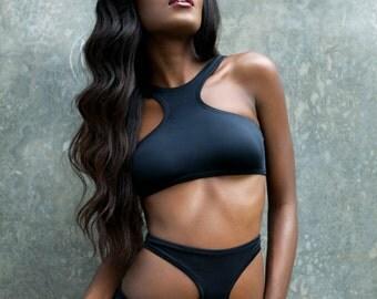 Black Cut Out Bikini