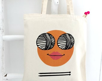 Wool Knitting project Bag - funny knitting bag  - Kelly Connor Designs