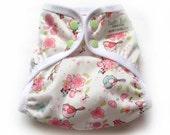 One Size Eco-PUL Cloth Diaper Cover Blue Bird