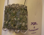 Silk & Lace Beaded Bridesmaid Bag/Clutch in Sage Green