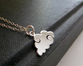 Cloud charm necklace / sterling silver / nymetals
