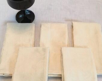 NAPL1648E  Beautiful Set of Napkins, Brocade Heavy Cotton Napkins, Napkin, Cloth Napkins, Brocade Napkins, Brocade Napkin, Up Cycled Fabric