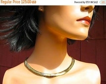 Beautiful 50s Madmen Gold Snake Chain Collar  Necklace