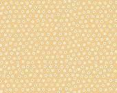 Yellow Blue and Green Daisy Floral Jersey Knit Fabric, Calico Days By Lori Holt for Riley Blake Designs, Daisy Print Yellow, 1 Yard Jersey