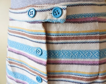 Funky Striped Tweed Skirt size Small