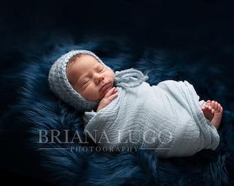 Extra Large faux fur, newborn photo prop, mongolian faux fur, blue faux fur, fur fabric