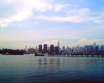 Across the Water, Empire State Building Photography Print, New York City Wall Art, Brooklyn NYC