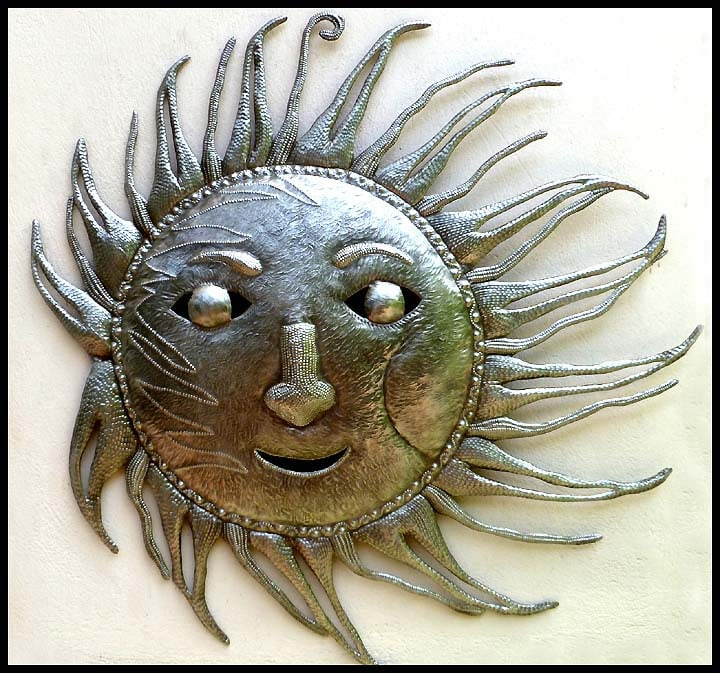 metal sun wall hanging 34 haitian art recycled steel